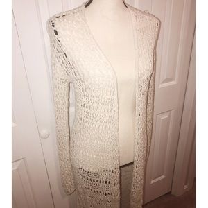 American Eagle Crochet Knit Duster